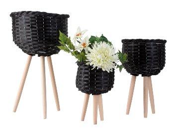 Planztöpfe 3er-Set -Preis, schwarz,