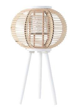 Windlicht 3-Bein h=66cm, natur/weiß