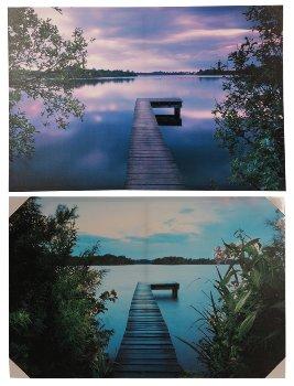Bilddrucke 'Natur' 90cmx60cmx3cm sort.