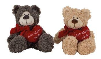 Bär sitzend mit Herz 'Ich liebe Dich'