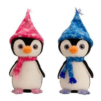 Pinguin stehend mit Mütze & Schal h=40cm