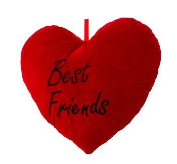 """Herzkissen rot """"Best Friends"""" b=33cm"""