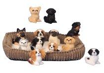 Dogs h=7 cm assort. Each 24 pcs 1x