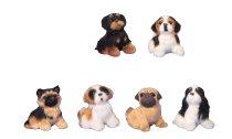 Dogs sitting h=8-8,5 cm assort.