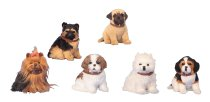 Dogs sitting with collar h=16-17 cm