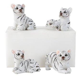 Tigerbaby weiß h=7-9cm b=9cm sort.