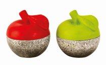 Moderne Äpfel farbig/grau h=10cm sort.