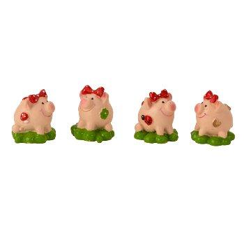 Glücksschweinchen auf Kleeblatt h=3,5