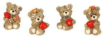 bear with heart h=6-6,5 cm assort.