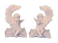 Angel on book with glass stone h=9,5 cm