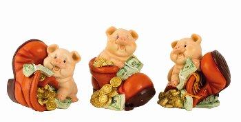 Geldschwein mit Schuh als Spardose