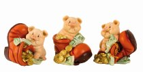 money pig with shoe h=10,5cm-12,5cm