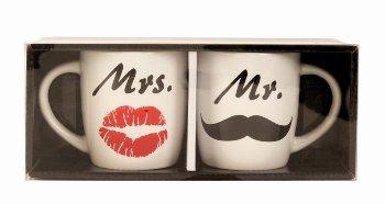 Tassenset 'Mr. & Mrs.' h=9,3cm d=8,5cm