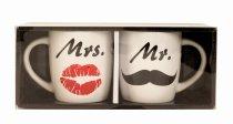 Cup set 'Mr. & Mrs.' h=9,3 cm d=8,5 cm