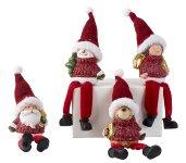 Christmas figure w. soft legs h=21cm