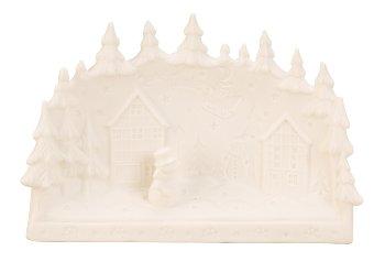 Landschaft Porzellan weiß mit LED