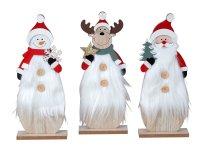 Weihnachtsholzdeko mit Nikolaus,
