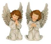 Angel kneeling h=21 cm assort.