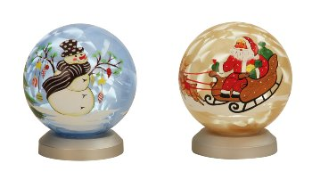 X-mas glass ball on LED-light h=11 cm