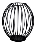 Metal basket black as candle holder