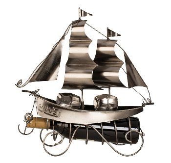 Wein-Flaschenhalter 'Segelschiff'