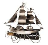 Wine-bottleholder 'sailing ship' h=38,5