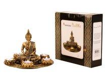 Buddha Set für Teelicht gold h=20cm