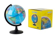 globe with stand as money box d=14,2cm