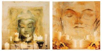 LED-picture 'buddha' 60x60 cm assort.
