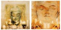 LED-Bild 'Buddha' 60x60cm sort.