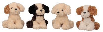 Plush dogs sitting assort. h=26 cm