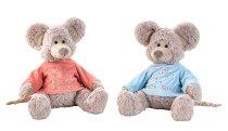 Plüsch Maus sitzend mit Pullover h=40cm