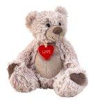 Bär sitzend mit kleinem Herz h=22cm