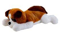 Plush Dog lying l=80cm