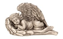 Engel schlafend im Flügel h=19cm b=30cm