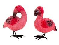 Flamingo with metal feet h=12cm w=9cm