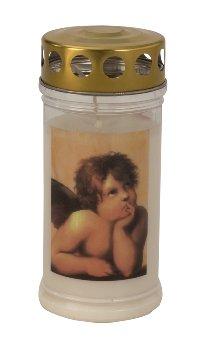 Gedenk-Kerze 'Engel Raphael' h=17cm,