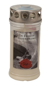 Memorial-candle with rose 'In ewiger