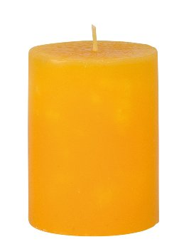 Scented candle yellow h=9 cm d=7cm 2%