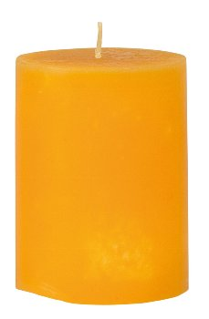 Scented candle yellow h=12 d=9cm 2%
