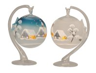 Christmas tree bauble with holder for