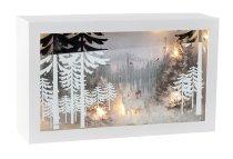 Rahmen mit Wintermotiv & Licht h=15cm