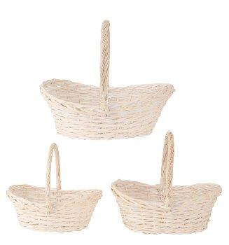 Willow-Basket white h=35-45cm b=37-52cm
