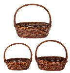 Willow-Basket brown h=36-46cm b=37-48cm
