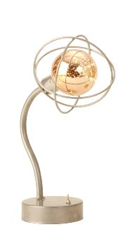 LED-Tischlampe silber h=27,5cm