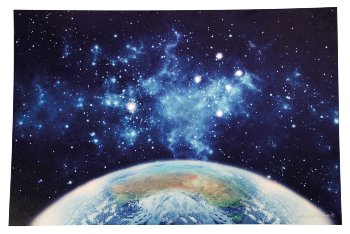 """LED-picture """"earth with universe"""""""