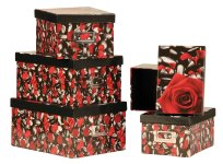 Box with rose design, Price for 5 pcs