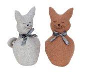Stoff-Katze zum Stellen braun & grau