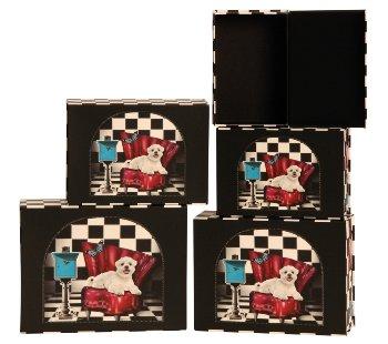 Boxen mit Hunden auf Sofa 5er-Set-Preis