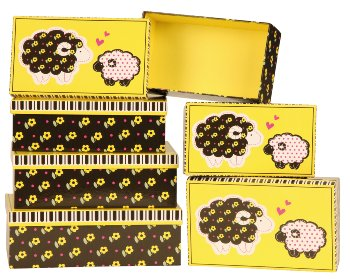 Box with sheep design, Price for 6 pcs